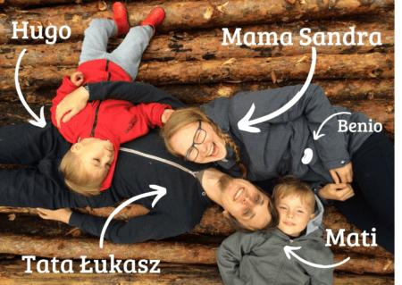 Nasza rodzina - Tata Łukasza, Mama Sandra, Mati, Hugo i Benio
